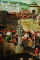 Tundmatu Madalmaade kunstnik Hieronymus Boschi (1450–1516) ja Pieter Bruegel vanema (1526/30–1569) ringist Kaubitsejate ja rahavahetajate templist väljaajamine. U 1570. Detail Õli, puu Eesti KunstimuuseumTundmatu Madalmaade kunstnik Hieronymus