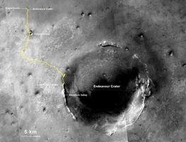 Kulguri kümne aasta teekond Eagle´i kraatri lähistelt suure Endeavouri kraatri juurde