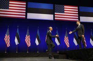 Ameerika president Barack Obama ja tudeng Oskar Poola Nordea kontserdimajas