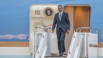 USA president Barack Obama saabub Tallinna