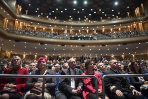Publik kuulamas Barack Obama kõnet Nordea kontserdimajas