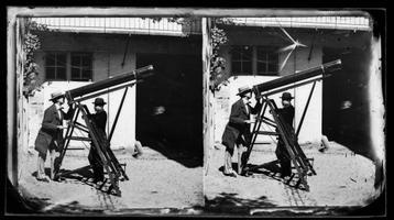 Inimesed vaatlemas 1860. aasta päikesevarjutust Prantsusmaal.