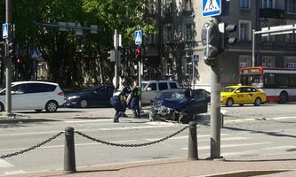 Tallinna kesklinnas 16. mail juhtunud avarii.