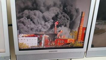 A rare metals factory in Sillamäe caught fire on Tuesday.