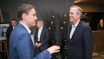 Bush met with PM Taavi Rõivas. The latter is facing two non-confidence votes and a drop in popularity polls.
