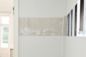 """Illusioon, moonutatud perspektiiv, tasakaalu puudumine, teine dimensioon II, 2014. Installatsioon näitusel """"Arheoloogiafestival – kihistusi pildist ja ruumist"""", 2014, Tartu Kunstimuuseumis"""