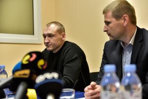 Eston Kohver at the press conference