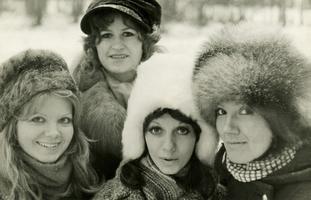 Ansambel Merl: Elle Kalmo, Lagle Alpius, Marju Kuut, Reet Linna. 1970