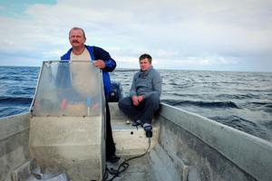 The fishermen mainly work over 15 kilometers, or 10 miles, out from shore.