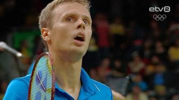 Badminton singles player Raul Must.