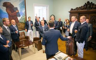 Таави Рыйвас приветствовал в Доме Стенбока эстонских олимпийцев и их тренеров.