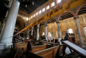 Terrorirünnak Kairo Püha Markuse katedraali juures 11. detsembril.