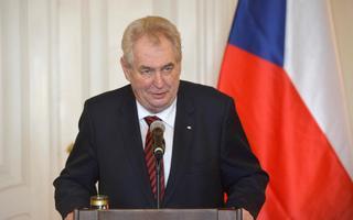 Tšehhi president Miloš Zeman.