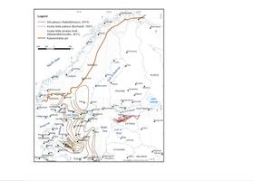 (Joonis 3) Mustade kiltade – Eesti graptoliitargilliit on just üks neist – levik Baltoskandias ja Fennoskandias. Levikuskeem on modifitseeritud mitmete autorite uurimuste alusel (sh. Buchardt, 1997, Nielsen ja Schovsbo, 2011 ja Hade ja Soesoo, 2014).