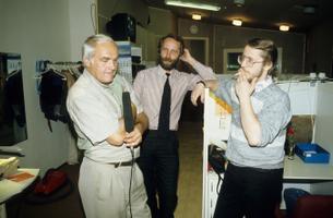 Saade, saatejuht Mati Talvik, Erki Berends, Harri Tiido, Kuku Raadio.   August 1993