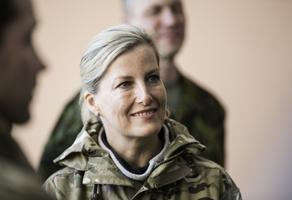The Countess of Wessex visited Tapa Army Base on Wednesday. May 3, 2017.