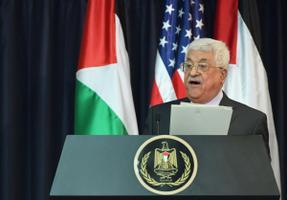 Palestiina liider Mahmud Abbas pressikonverentsil Petlemmas.