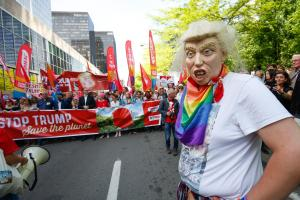 Brüsselis avaldati Donald Trumpi vastu meelt.