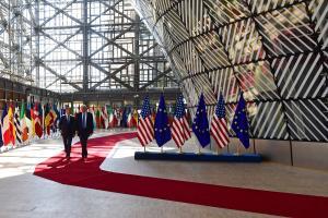 Donald Trump ja Donald Tusk Brüsselis.