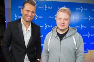 Koit Toome ja Sven Lõhmus Eesti Laulu proovis. 2017