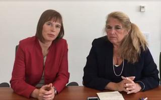 President Kersti Kaljulaid andmas intervjuud New York Timesi arvamustoimteajale Carol Giacomole.