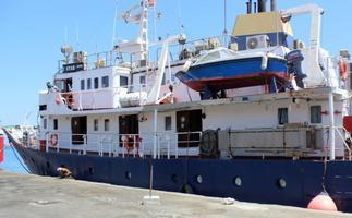 C-Star 27. juulil Famagusta sadamas rahvusvaheliselt tunnustamata Põhja-Küprose Türgi Vabariigis.