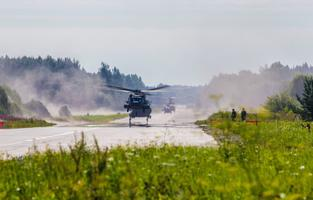 A-10 Warthogs of the Maryland Air National Guard practice landing on and taking off from Jägala-Käravete Highway in Northern Estonia. Aug. 10, 2017.
