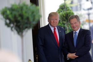 USA ja Soome presidendid Donald Trump ja Sauli Niinistö.
