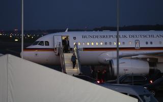 Angela Merkeli saabumine.