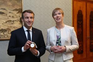 Emmanuel Macron ja Kersti Kaljulaid kohtusid Kadriorus.