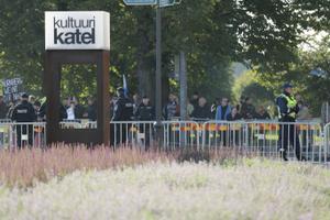 Politseinikud Kultuurikatla juures