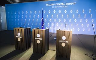 Ajakirjanike tööruumid tippkohtumisel.