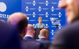 President Kersti Kaljulaid Eesti eesistumise tippkohtumisel Digi Summit.