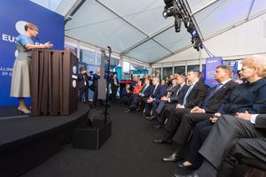 Riigipead ja valitsusjuhid Kersti Kaljulaidi avakõnet kuulamas.