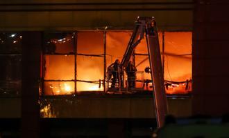 Tulekahju Moksva kaubanduskeskuses 2017. aastal. Illustratiivne foto.