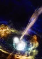Gravitatsioonilaineid ehk aegruumi enda võbelusi otsivad astronoomid teatasid, et tabasid esimest korda ühinemast kaks neutrontähte.