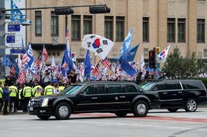 USA president Donald Trump saabus Lõuna-Koreasse.