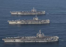 USS Ronald Reagan, USS Theodore Roosevelt ja USS Nimitz