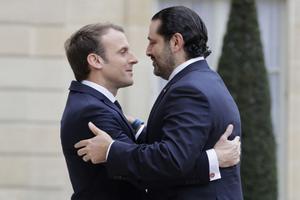 Saad Hariri kohtus Pariisis Emmanuel Macroniga.