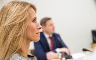 Kaja Kallas Reformierakonna juhatuse koosolekul.