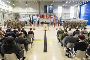 Belgia andis õhuturbemissiooni üle Itaalia õhuväelastele.