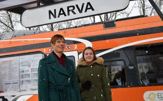 President Kersti Kaljulaid jaanuaris Narvas.