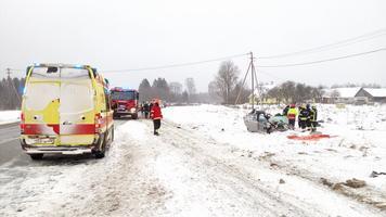 Avarii Tallinna-Tartu maantee 47. kilomeetril