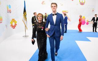 Reet Linna ja tütrepoeg Kaspar Kalle