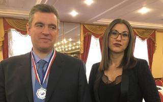 Venemaa presidendivalimised. Leonid Slutski ja Olga Ivanova.