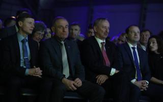 Aivar Sõerd, Ants Laaneots, Siim Kallas ja Arto Aas Reformierakonna üldkogul