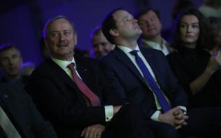 Siim Kallas ja Arto Aas Reformierakonna üldkogul