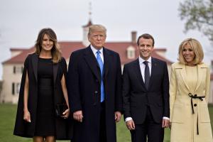 Trumpid ja Macronid 23. aprillil Washingtonis.