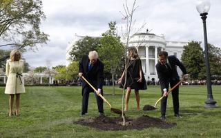 Trumpide ja Macronide kohtumine 23. aprillil Washingtonis.