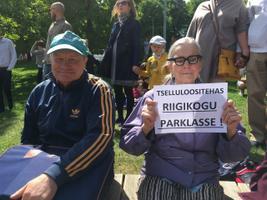 Акция протеста в Тарту против строительства целлюлозного завода.